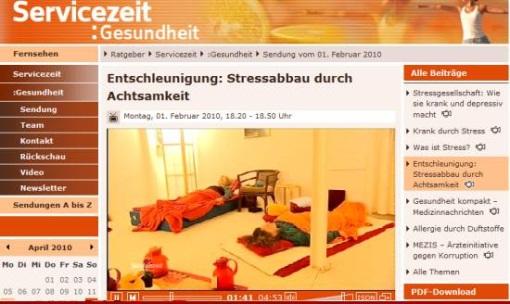 WDR Fernsehen in der  Servicezeit Gesundheit
